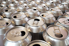 Soda Cans. Background picture composed of many aluminium soda cans stock illustration