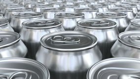 Soda cans 3D animation stock footage