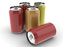 Soda cans Royalty Free Stock Images
