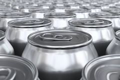 Soda cans low angle Royalty Free Stock Photo