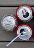 Soda cans Royalty Free Stock Image
