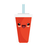 Soda character kawaii style Royalty Free Stock Photo
