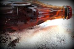 Soda, Coca-cola bottle. Bottle of coca-cola with sugar, soda with sugar Stock Photo