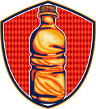 Soda Cola Water Bottle Retro Crest Royalty Free Stock Photo