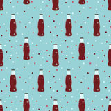 Soda cold drinks pattern Royalty Free Stock Photography