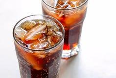 Soda con ghiaccio Fotografie Stock