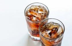 Soda con ghiaccio Fotografie Stock Libere da Diritti