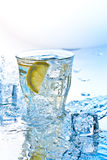 Soda con hielo Foto de archivo