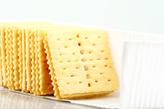 Soda crackers Stock Images