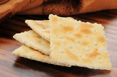 Soda crackers Royalty Free Stock Photos