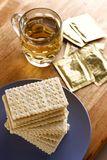 Soda Crackers and a cup of tea Royalty Free Stock Photo