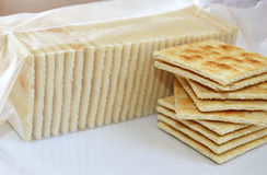 Soda Crackers - ideal as a snack and with soup Royalty Free Stock Images