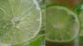 Soda da água mineral com cal video estoque