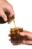 Soda de colada en un vidrio Imagen de archivo