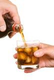 Soda de colada en un vidrio Fotografía de archivo libre de regalías