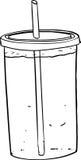 Soda de gran tamaño con la paja Imagen de archivo
