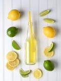 Soda de la cal del limón Foto de archivo