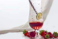 Soda de la fresa Imagen de archivo libre de regalías