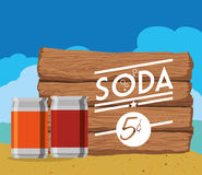 Soda design Royalty Free Stock Image