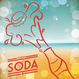 Soda design Stock Image