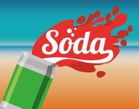 Soda design Royalty Free Stock Photos