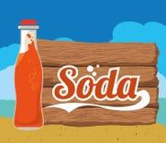 Soda design Royalty Free Stock Photography