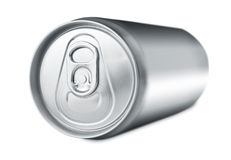 Soda drink can lying Royalty Free Stock Photos