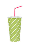 Soda drink with red straw Stock Photo