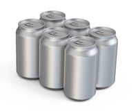 Soda drinks cans. 3d render soda drinks cans (isolated and clipping path Royalty Free Stock Photos