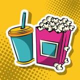 Soda e pop art do milho de PNF ilustração royalty free