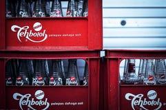 Soda in een doos Stock Foto's