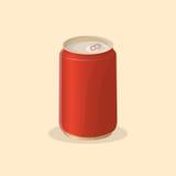 Soda in einer Blechdose Stockbilder