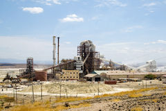 Soda factory near saline pan. Africa Royalty Free Stock Photos