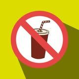 soda fast food unhealth prohibited Stock Photography