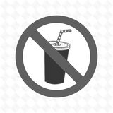 soda fast food unhealth prohibited Royalty Free Stock Image