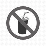 soda fast food unhealth prohibited Royalty Free Stock Image