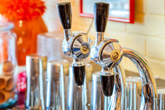 Soda Fountain Nozzles Stock Photo
