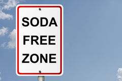 Soda Free Zone Stock Image