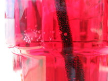 Soda in glass. Red sode in a glass Stock Photos