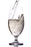 Soda glass. Pouring soda water into the glass Royalty Free Stock Images