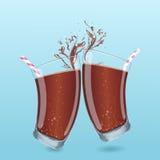 Soda glass beaker Royalty Free Stock Images