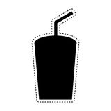 Soda glass isolated icon Stock Images