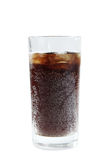 Soda in a glass. Isolated on a white background royalty free stock images