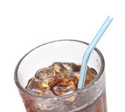 Soda in Glass with Straw Stock Image