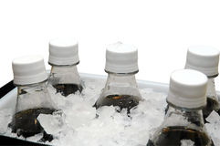Soda on Ice Royalty Free Stock Photos