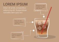 Soda Infographic della cola illustrazione vettoriale