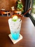 Soda italiana blu ghiacciata Immagini Stock