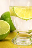 Soda with lime wedge Royalty Free Stock Photos