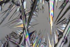 Soda lye microcrystals Stock Images