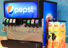 Soda Fountain. With Ice Dispenser Royalty Free Stock Photos